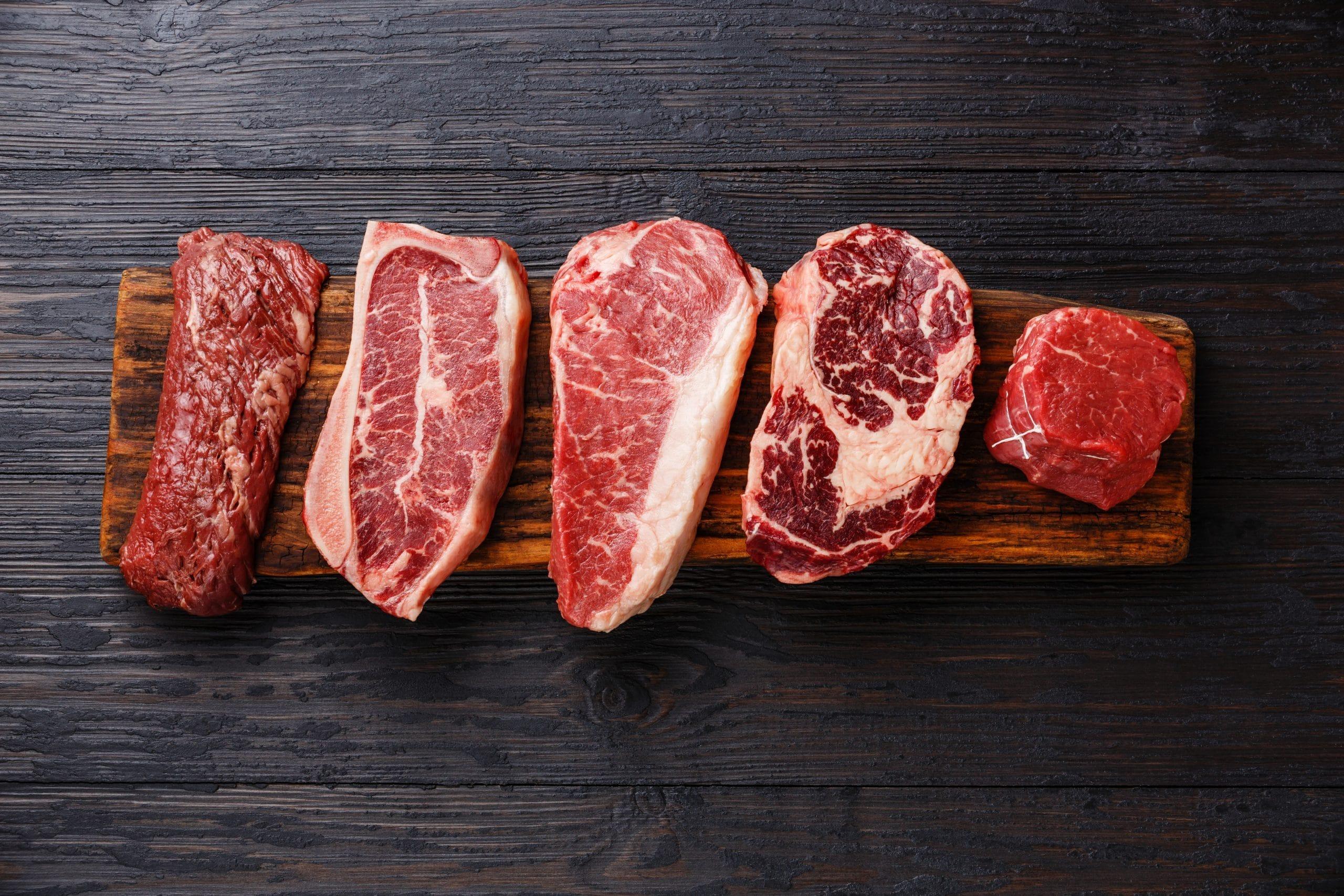 Видове телешки (говежди) стекове